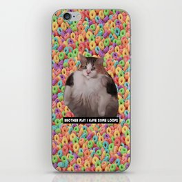 Loops Brother Kitty iPhone Skin