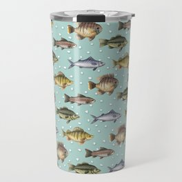 Watercolor Fish Travel Mug
