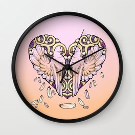Lover Pigeons - Royal Heart Wall Clock