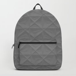 gray grid Backpack