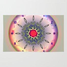 Time - Floral Clock Rug