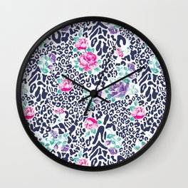 floral animal Wall Clock
