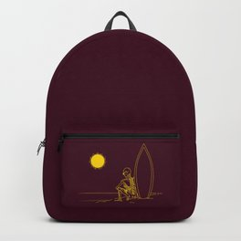 No waves, just waiting and relax (forever)... Backpack