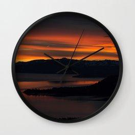 Tahoe Sunset Wall Clock