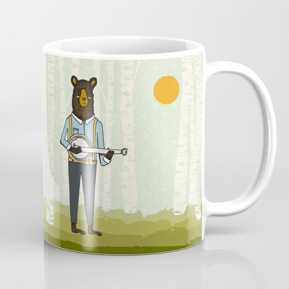 Bear's Bourree - Bear Playing Banjo Tea Cup by Andrealauren MUG1095242