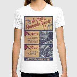 Vintage poster - Mosquito breeder T-shirt