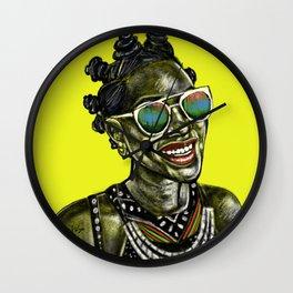 Bantu Knots Wall Clock