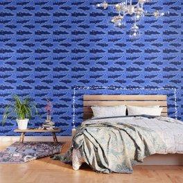 Blue Batty Flight Wallpaper