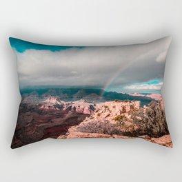 Rainbow over the Canyon Rectangular Pillow