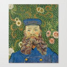 Portrait of the Postman Joseph Roulin by Vincent van Gogh Canvas Print