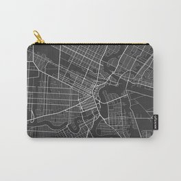 Winnipeg Map, Canada - Gray Carry-All Pouch