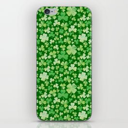 Lucky Green Watercolour Shamrock Pattern iPhone Skin