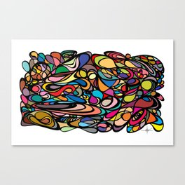 Flow [Black] Canvas Print