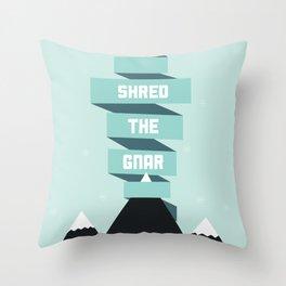 Shred the Gnar Throw Pillow