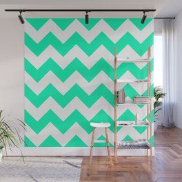 Mint Chevron Wall Mural