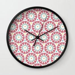 geometric botany pattern Wall Clock