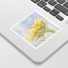 Helianthus annuus: Sunflower Abstraction Sticker