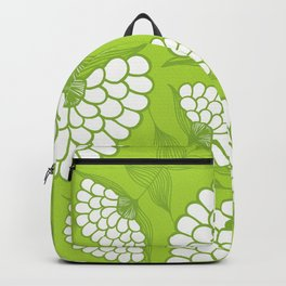 African Floral Motif on Green Backpack
