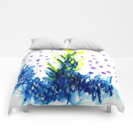 blue fire Comforters