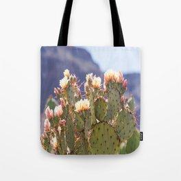 Prickly Pear Cactus Blooms, II Tote Bag