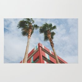 Las Vegas Palm Trees and Vintage Design Rug