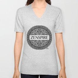 Zentangle - Zenspire  Unisex V-Neck