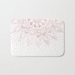 Elegant rose gold mandala confetti design Bath Mat