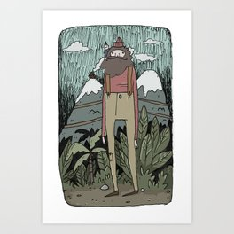 The Giant and the Girl Art Print