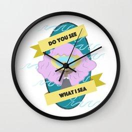 sea girl Wall Clock