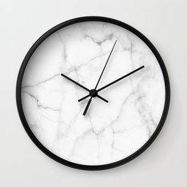Pure Solid White Marble Stone All Over Wall Clock