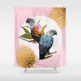 Jolly Parrots Shower Curtain