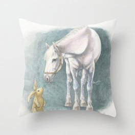 Velveteen Rabbit Throw Pillow