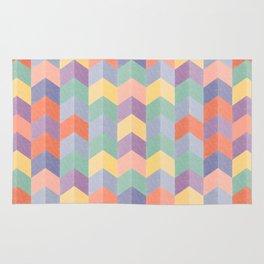 Colorful geometric blocks Rug