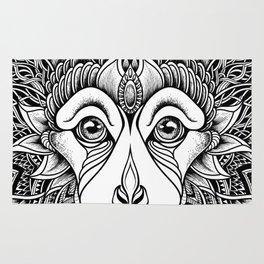MONKEY head. psychedelic / zentangle style Rug