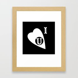 Ouija Love - Blacck Framed Art Print
