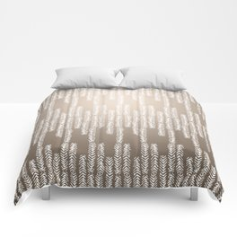 Eye of the Magpie tribal style pattern - champagne Comforters