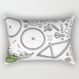 a bike's flatlay Rectangular Pillow