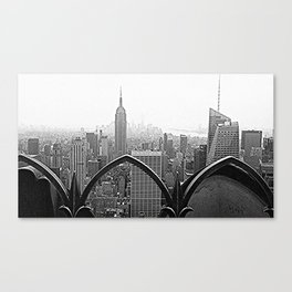 New York Skyline(Black and White) Canvas Print