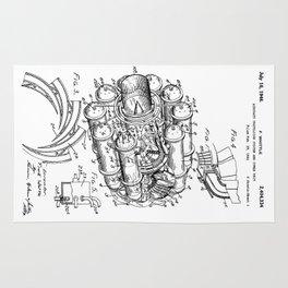 Jet Engine: Frank Whittle Turbojet Engine Patent Rug