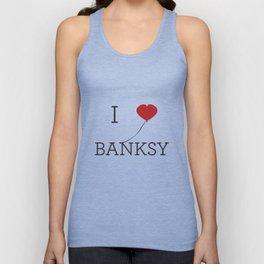 I heart Banksy Unisex Tank Top