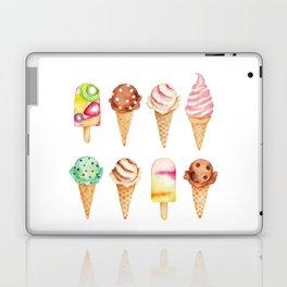 Cool Sweets / Watercolor Ice Cream Laptop & iPad Skin