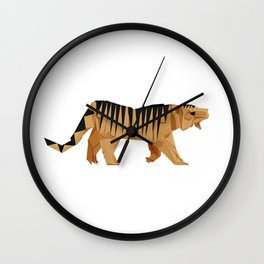 Origami Tiger Wall Clock