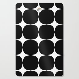 Retro '50s Shapes in Black and White Cutting Board