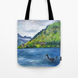 Loch Ness (with Nessie) Tote Bag