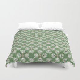 Hot Mess Gilligan on Green Duvet Cover