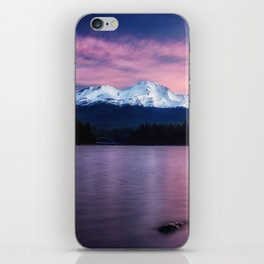Sublime a sunrise at Lake Siskiyou with Mt. Shasta iPhone Skin