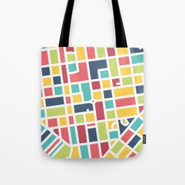 Lancaster, PA Block Map Tote Bag