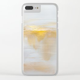 Gold Sunset Clear iPhone Case