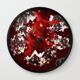'You Cracked the Egg' Series - Easter Evil Bunny with Premium Background Wall Clock