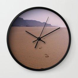 THE WHOLE BEACH TO MYSELF Wall Clock